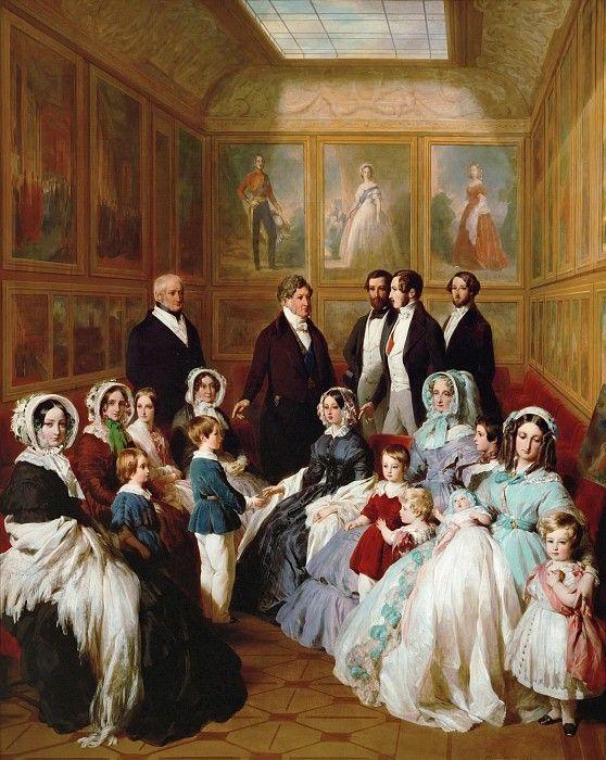 Королева Виктория и принц Альберт в гостях у короля Франции Луи-Филиппа в шато д´Э в 1845 году. Франц Ксавьер Винтерхальтер