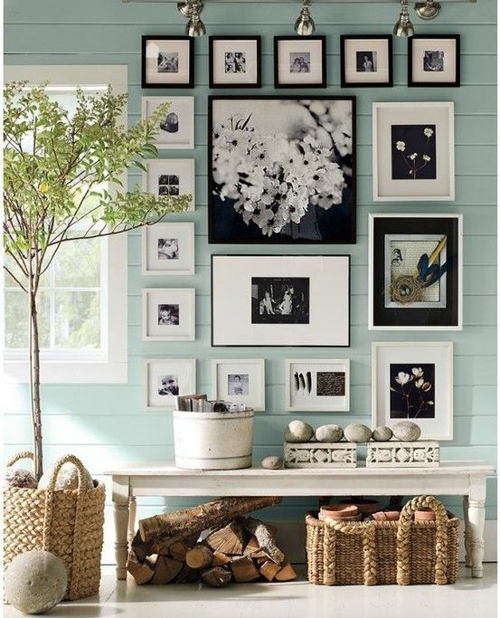 """Benjamin Moore color """"blue maze""""...soothing, cool, muted blue. I would paint a beach cottage this in a heartbeat!"""