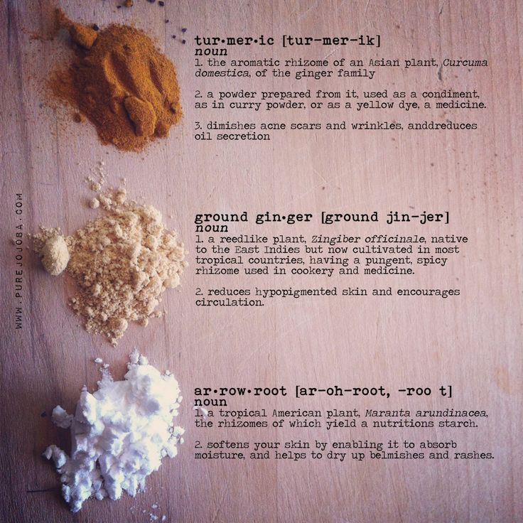 DIY all natural makeup using turmeric, ground ginger, and arrowroot flour. Make both foundation AND bronzer from these ingredients and more. Turmeric works on diminishing acne scars and wrinkles, while ginger reduces hypopigmented skin and encourages circulation. Arrowroot works to soften your skin by enabling it to absorb moisture.