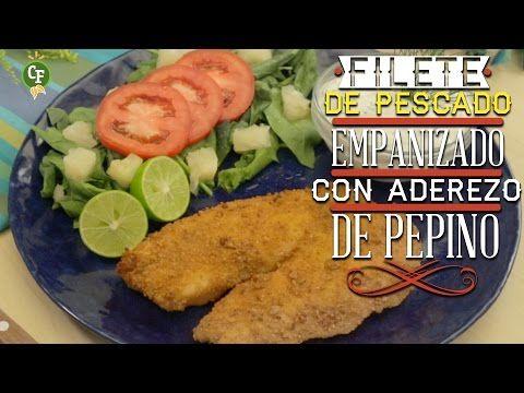 ▶ ¿Cómo preparar Filete de Pescado Empanizado con Aderezo de Pepino? - Cocina Fresca - YouTube
