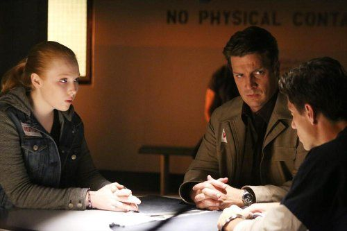 James Carpinello, Nathan Fillion, and Molly C. Quinn in Castle (2009)