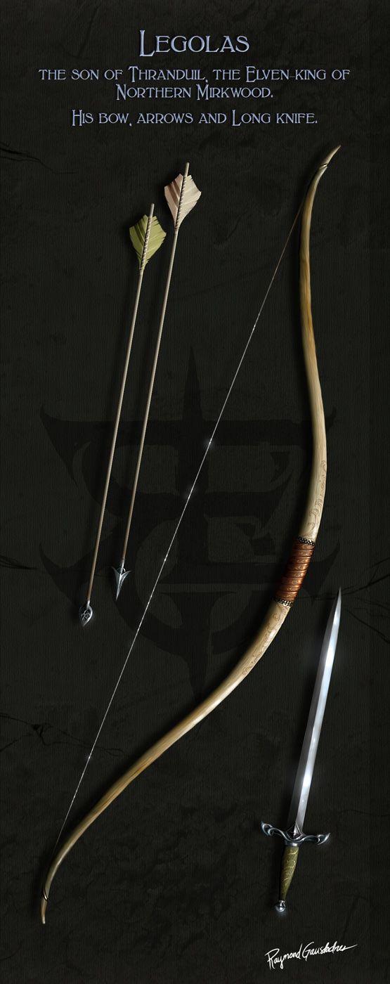 ME Weapons - Legolas by Shockbolt on deviantART