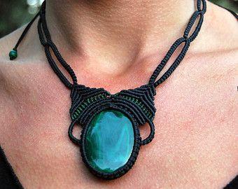 Collier améthyste collier collier en macramé par LaughingBuddhaArt