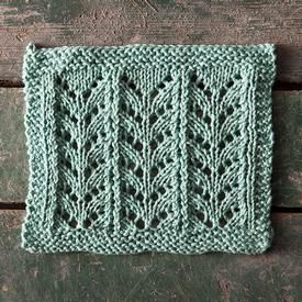 Free Knitting Patterns: Zig Zag Lace Dishcloth