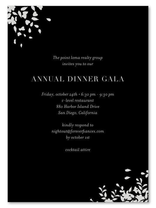 Best Plantable Gala Business Invitations Images On