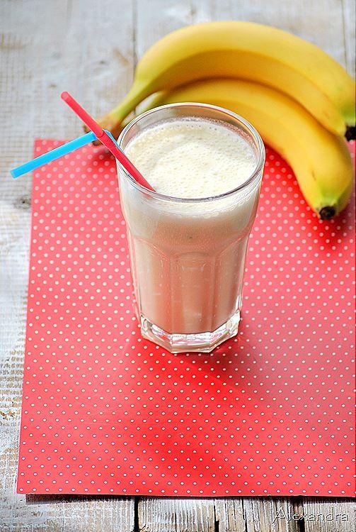 Ρόφημα μπανάνας με γάλα και μέλι