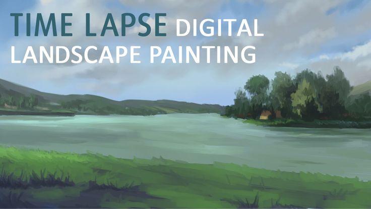 Orfű Lake - Time lapse digital landscape painting. This video shows how I painted Orfű Lake digitally.