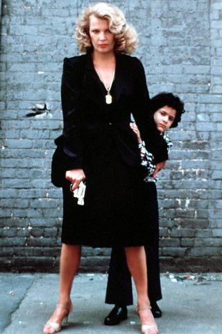Gena Rowlands on the set of 1980's Gloria.