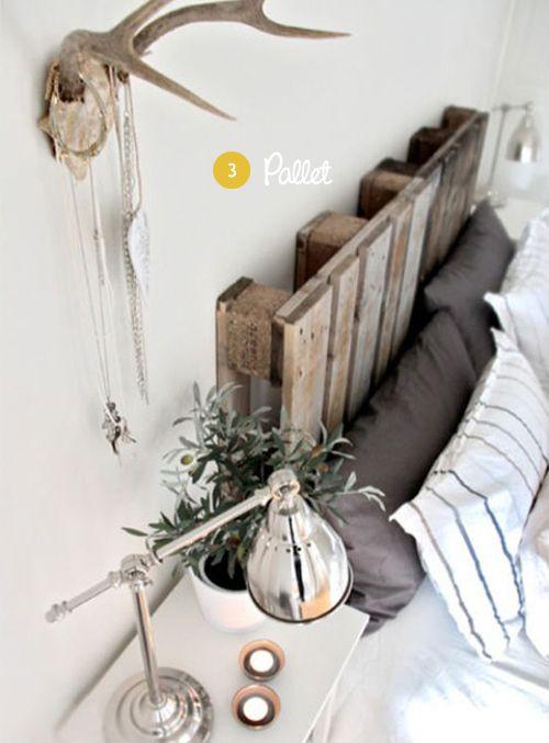 wow mooie kamer met gewei en pallets