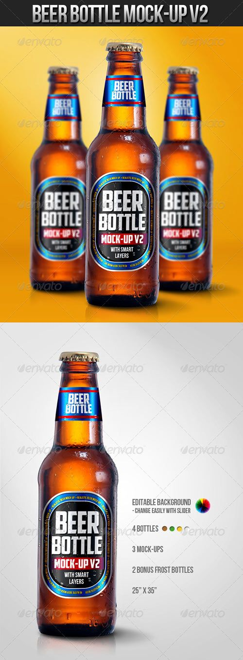 Beer Bottle Mock-Up V2 » Free Special GFX Posts Vectors AEP Projects PSD Web Templates