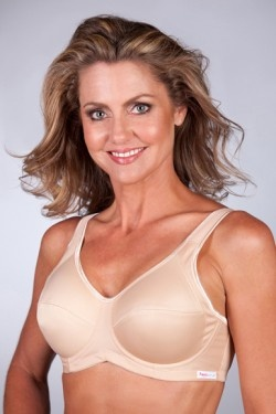 Mature women in sports bras