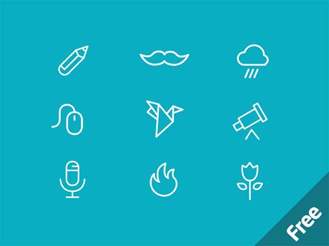 MiniCONS - 40 free PSD icons