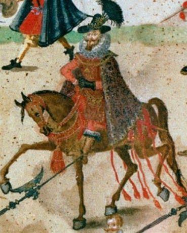 Fragment - Rulon polski, ok. 1605 r.  - król Zygmunt III
