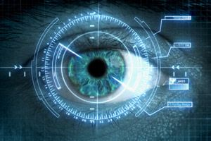 High-Tech futuristic HUD. Heads Up Display. Your own personal Homeland Security.