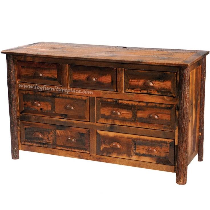Cottage Barnwood 7 Drawer Dresser