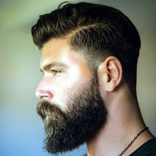 Fading A Beard - Low Taper Fade with Hard Side Part