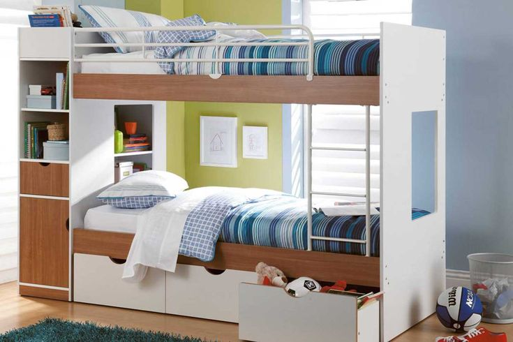 Here's a great soloution for the mess and clutter that so often finds its way into your kids bedroom. The Olympus Bunk Bed is the perfect solution with loads of storage to store toys, clothes and other bits and bobs that have mysteriously found their way into there!