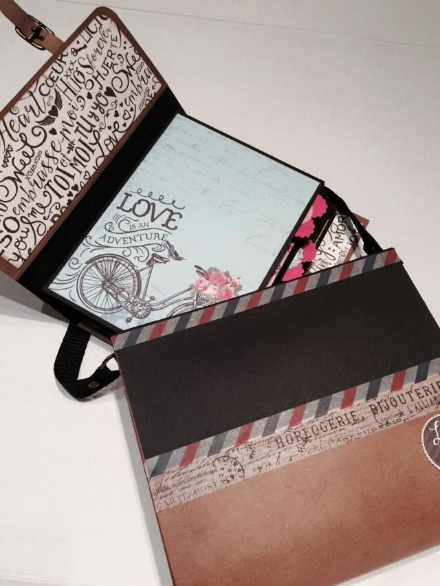 """Love Mail Mini Album made with """"Authentique"""" #Authentique #axesdesigns #magdacortez #onlinetutorials"""