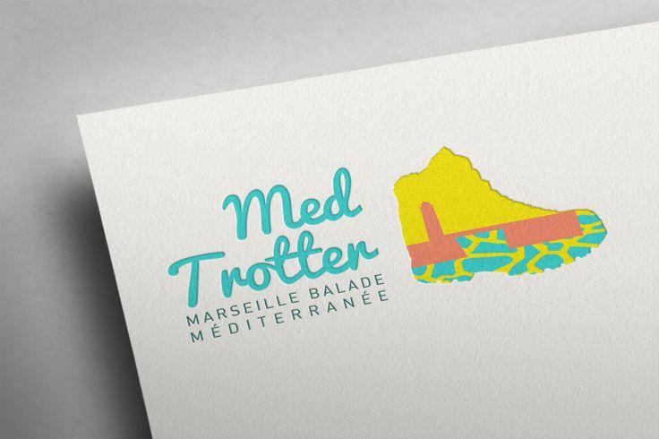 Création de logo graphiste professionnelle pour association randonnée Marseille