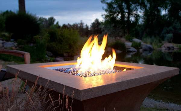 gas outdoor fire pit designs | Gas Fire Pit Kit in Your Outdoor Space : Gas Fire Pit Kit With Weeds