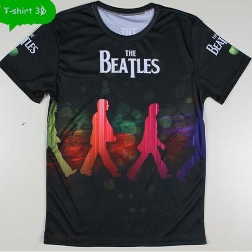 """The Beatles Rock Band"" T-SHIRT 3D MEN PRINTING Top Tees camiseta de manga corta"