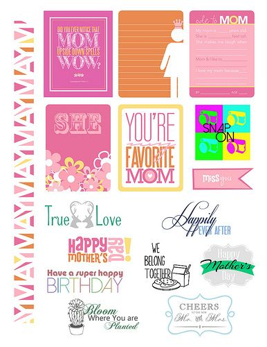 Free May 2014 Simple Printables from Paper Crafts Magazine