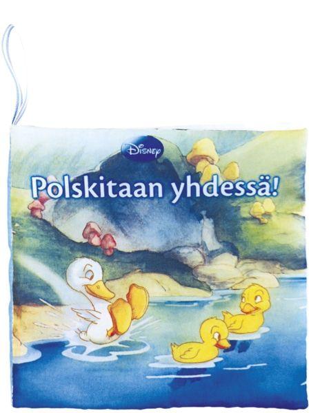 Kankaisessa Polskitaan yhdessä! -kylpykirjassa  ihastuttava pieni ankanpoika leikkii lammella uusien ystäviensä kanssa. Kauniisti kuvitetun kirjan voi ottaa kylpyammeeseen mukaan, sillä ihanan pehmeät kangassivut kestävät kosteutta. Hilpeitä pesuhetkiä!