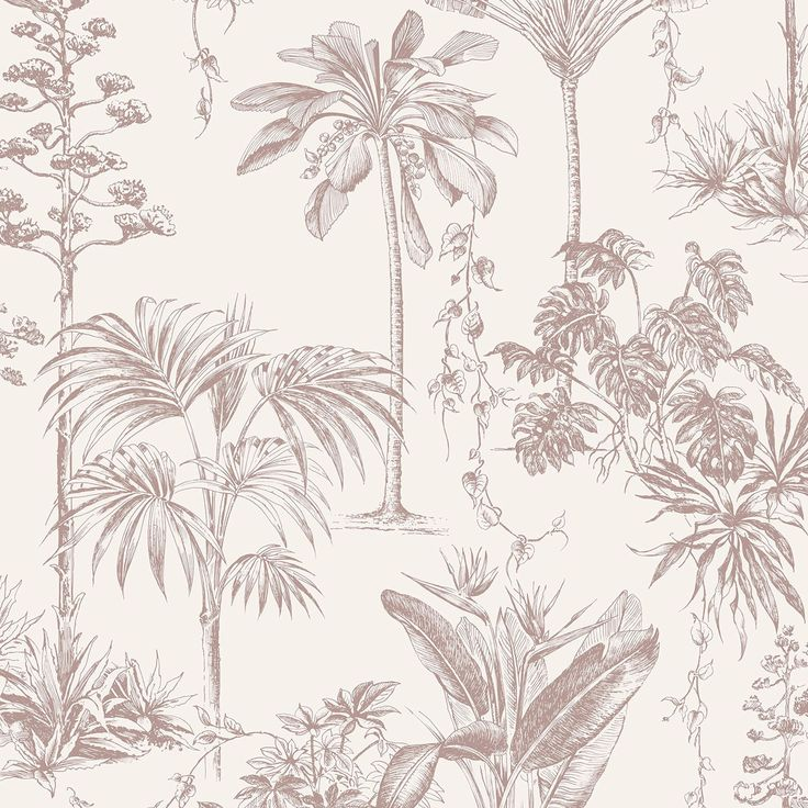 Graham & Brown Brunei Rose Gold Trees Metallic Effect Wallpaper | Departments | DIY at B&Q