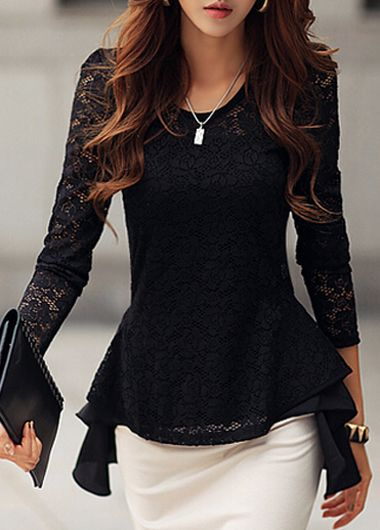 Charming Round Neck High Low T Shirt                              …