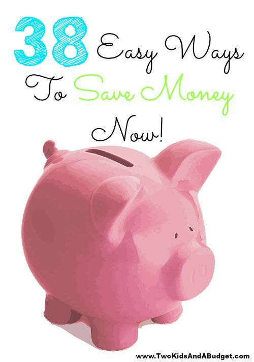Looking for easy ways to save money now? These 38 tips will help save you cash today whether it's at home, at work, or on the go. www.TwoKidsAndABudget.com