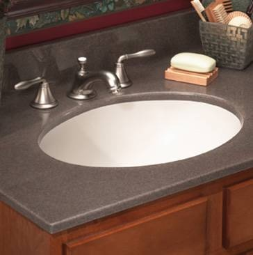 Vanity tops add elegance to the bathroom with a bioprism solid surface vanity top or cultured - Custom solid surface bathroom vanity tops ...