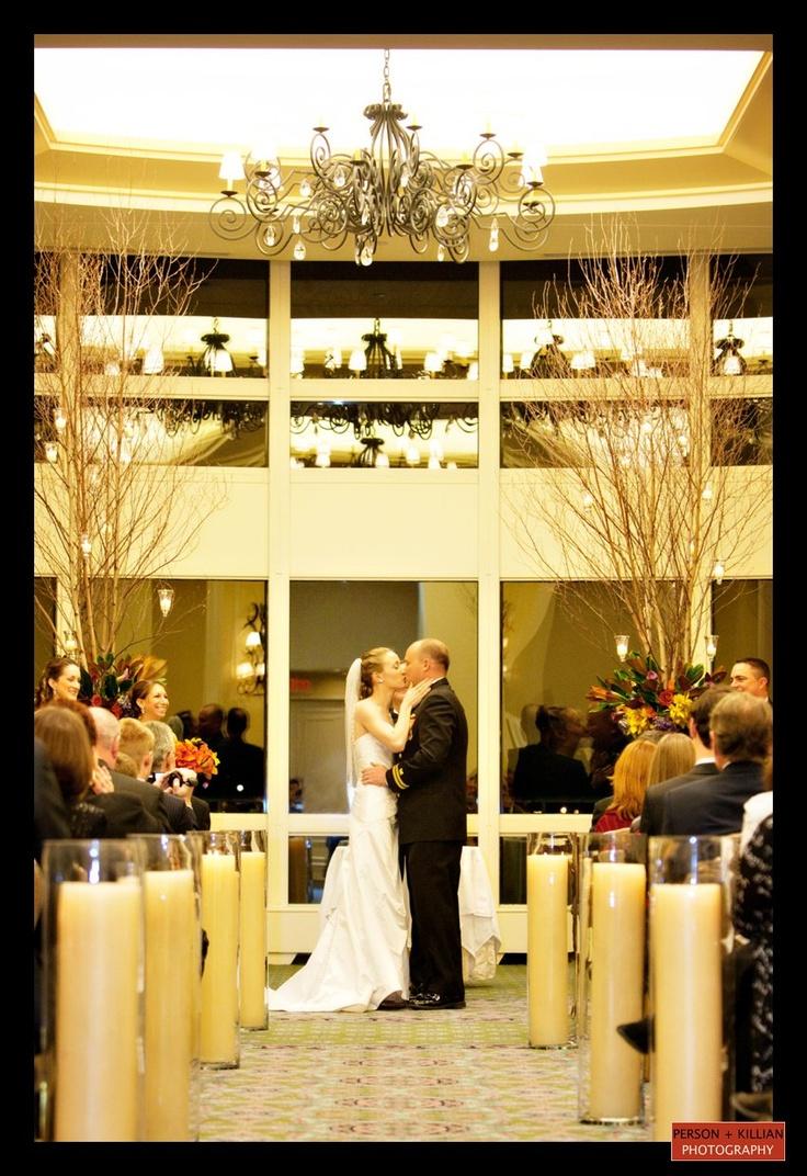 Winter Wedding Ceremony In The Boston Harbor Hotel Wharf