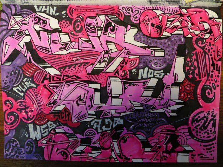 Doodle, pink