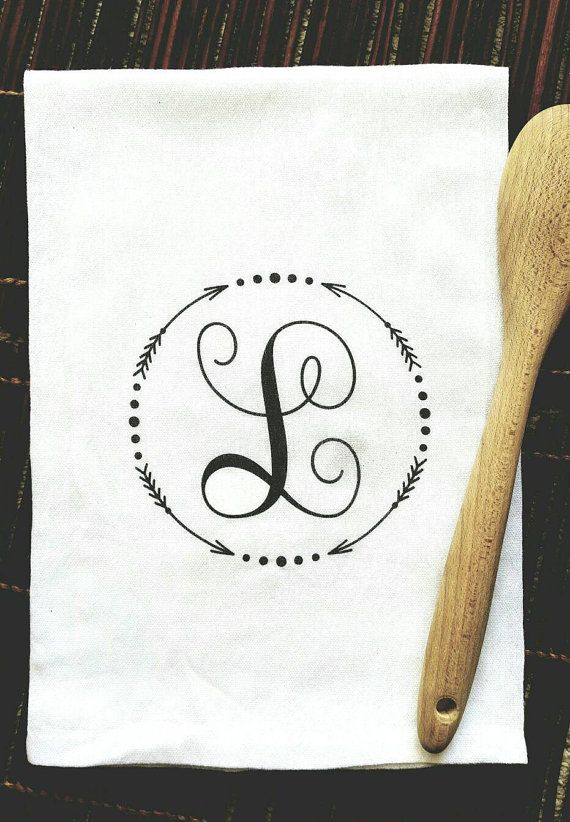 Check out this item in my Etsy shop https://www.etsy.com/listing/265153455/monogrammed-tea-towel-kitchen-towel