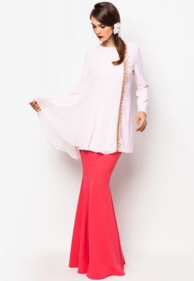 Fajeeda Pink Baju Kurung if i got to wear, i think this is pretty nice and modern