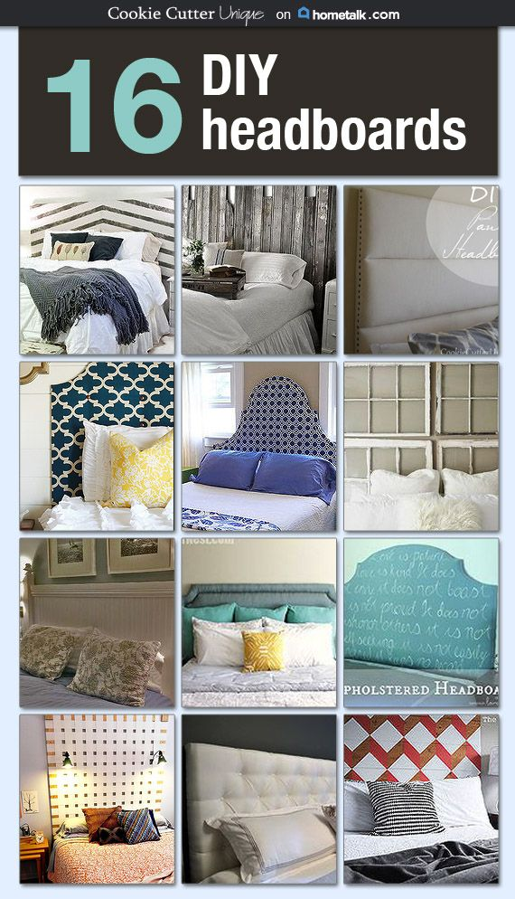 I'm so glad there are so many incredible DIY headboard ideas here, because buying a headboard is so OUT of my budget (have you seen the cost of those things?!). Love these!