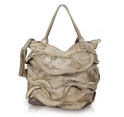 "Caterina Lucchi Tasche ""Used-Look"" in beige"