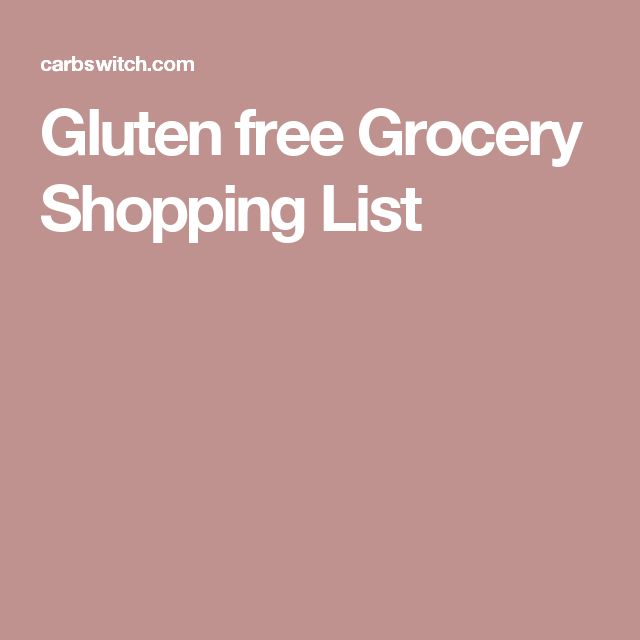 The 25+ best Gluten free shopping list ideas on Pinterest Gluten - sample shopping list