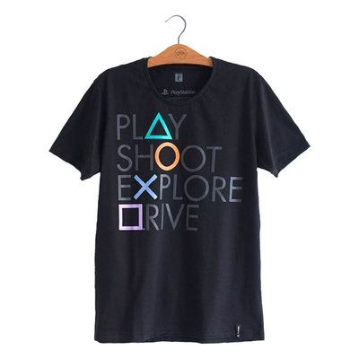 Camiseta Playstation Botões Sony