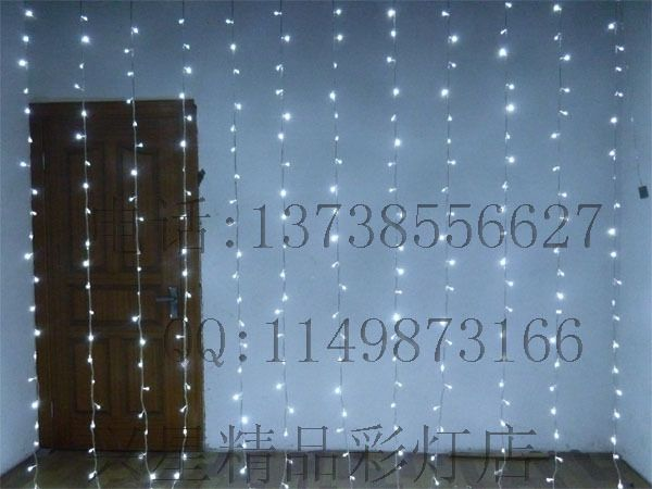 398.86 .Свадебные светодиодные фонари строка праздник огней белые светодиодные сосулька огни капает 1200L света (6 * 12M-Taobao