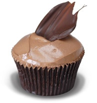 Rose Chocolate: Dark chocolate cake with rose flavoured chocolate filling and chocolate ganache #Ghermez #Cupcakes