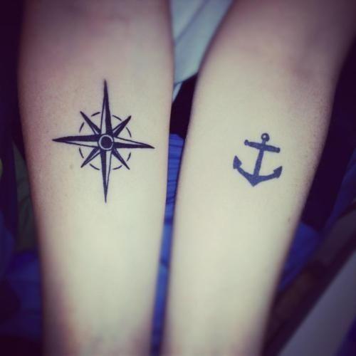 Tattoo | Anchor | Compass