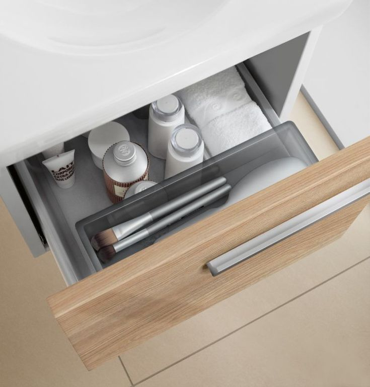 Excellent segmented storage in the: V&B Joyce Compact Vanity Unit. Wall Hung Furniture from UK Bathrooms : UK Bathrooms