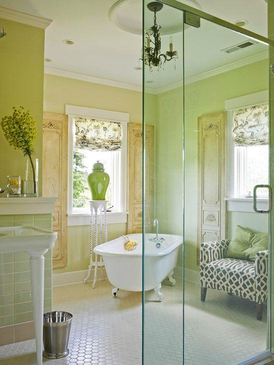 Epic: Bathroom Design, Idea, Vintage Bathroom, Colors, Bathtubs, Clawfoot Tubs, Dreams Bathroom, Green Bathroom, Design Bathroom