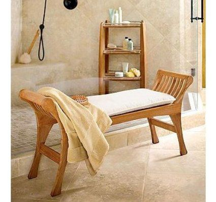 find this pin and more on teak shower benches