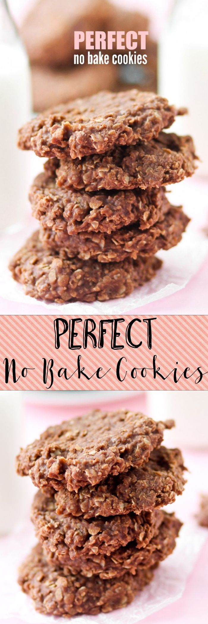 The PERFECT No Bake Cookie Recipe! These set up EVERY time!!