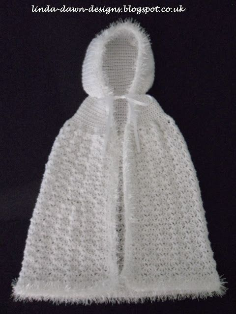 Crochet Snowy Cape With Hood Crochet Baby Boys Girls