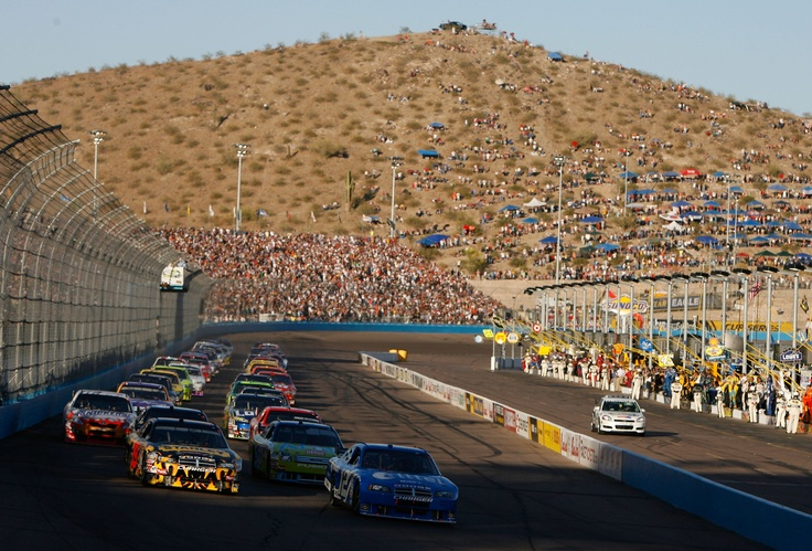 Phoenix International Raceway. This is about where our seats were.