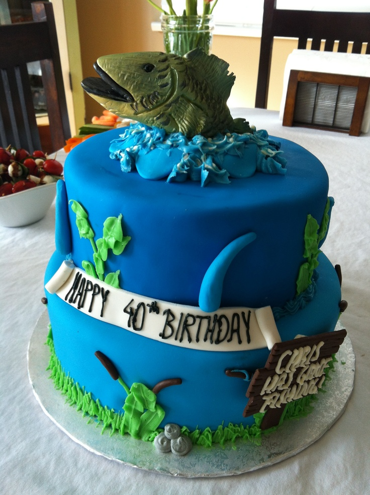 1000 ideas about fishing theme cake on pinterest for Fishing themed cakes