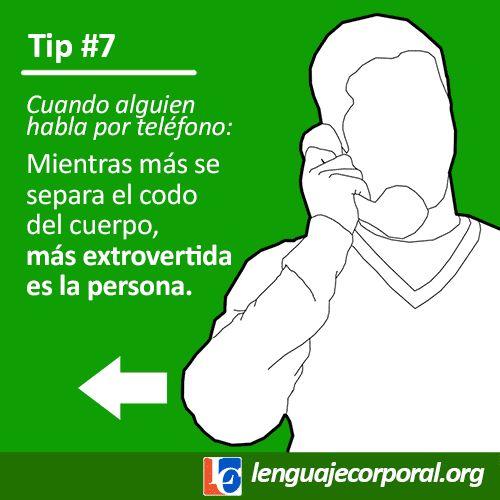 A pesar de que los gestos se limitan mientras hablamos por teléfono, un indicador de introversión/extroversión es la distancia a la cual se separa el...